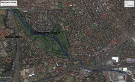 Glendower Stream map