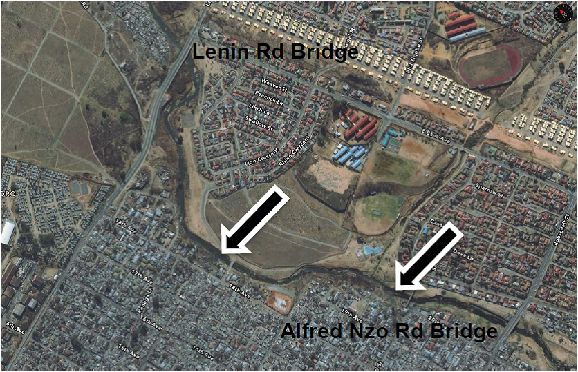 Jukskei River Alexandra pollution sites
