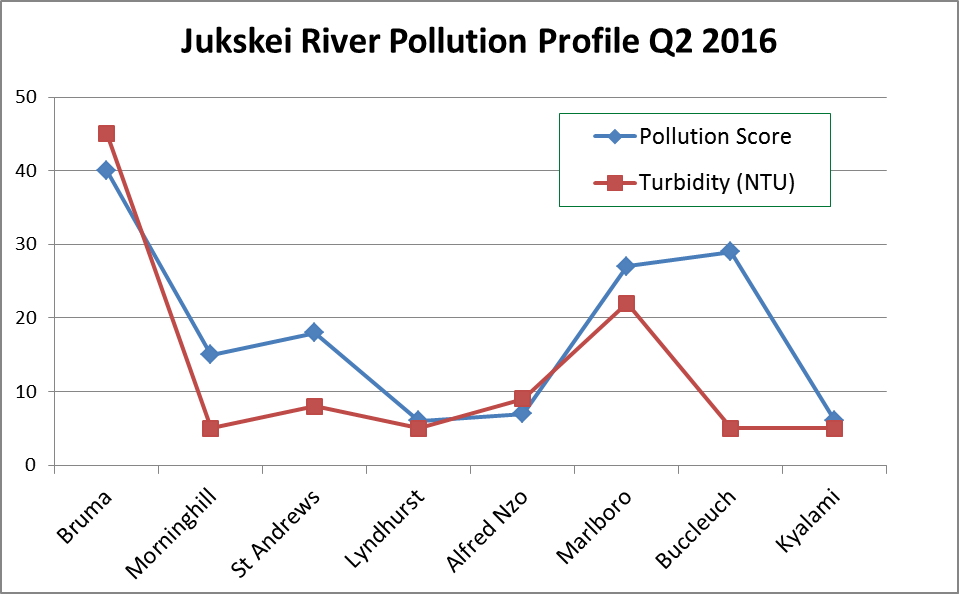 Jukskei River pollution profile May 2016
